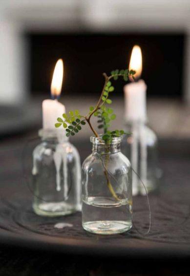 Velas de Navidad - Christmas candles on glass jars