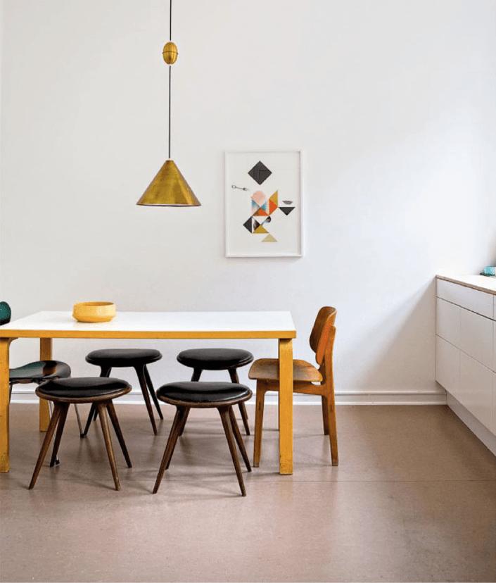 Casa en Copenhagen - cocina mesa rectangular