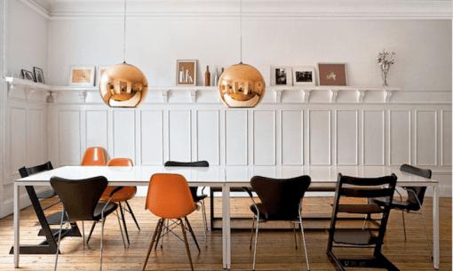 Casa en Copenhagen - comedor mesa rectangular