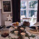 El comedor en Navidad