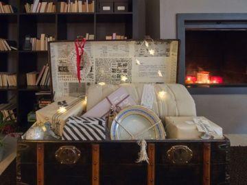 Regalos de Navidad en el baúl