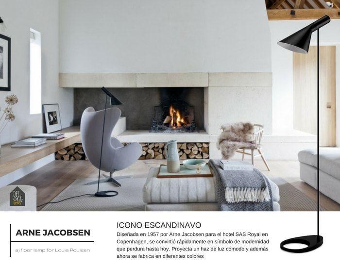 Diseño escandinavo para esta lámpara de lectura de Arne Jacobsen