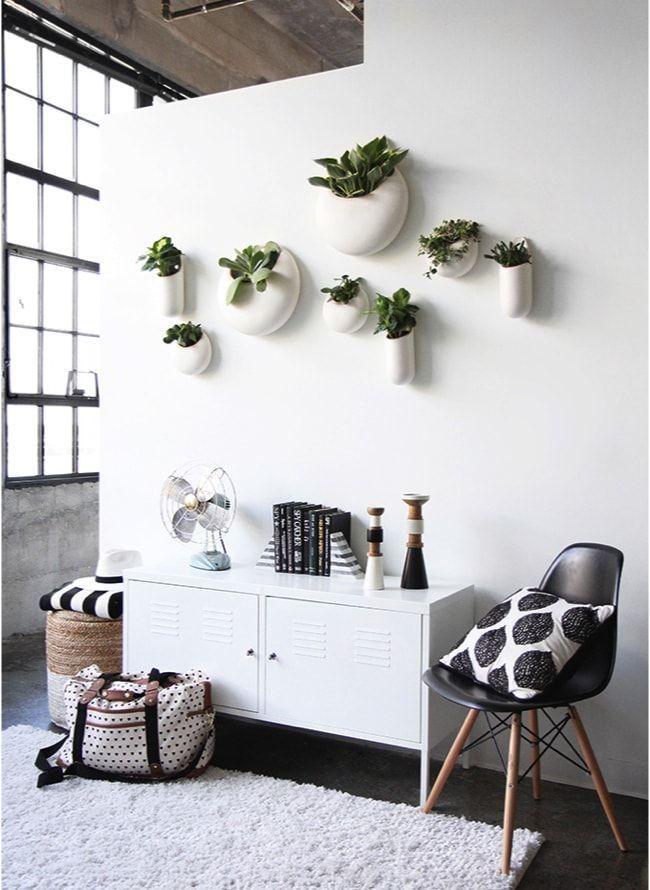 la primavera decorando paredes