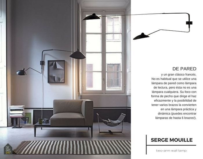 Lámpara de lectura de pared Mouille