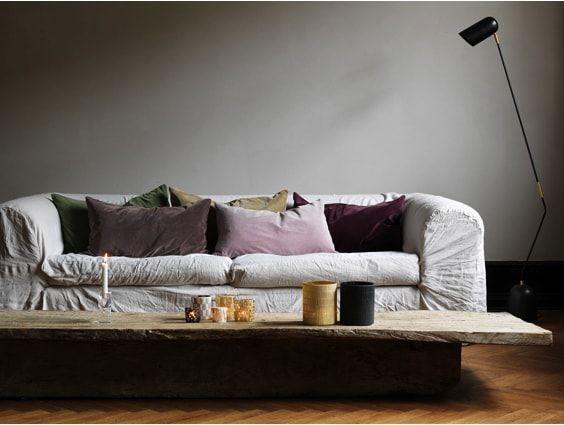 Velvet cushions by Olsson and Jensen