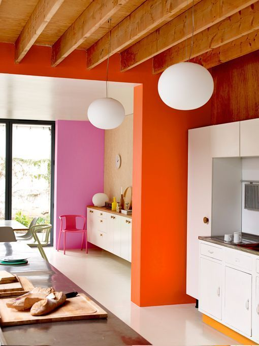 Cool houses - rainbow colours