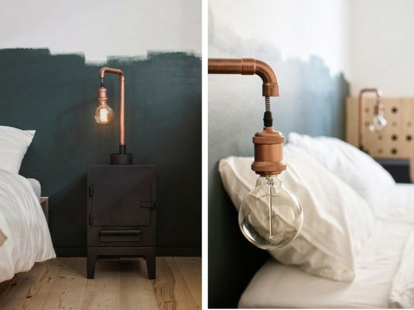 diy - an amazing sidetable with a lamp incorporated