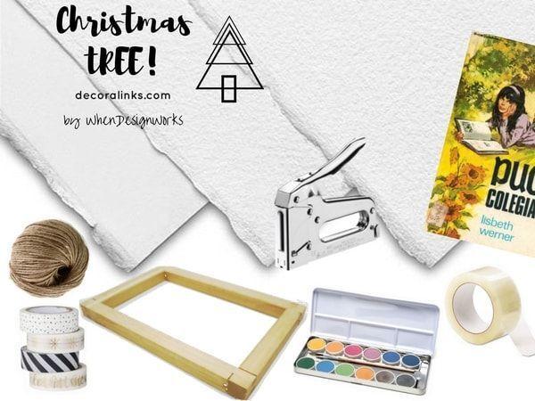 arbol de navidad - diy - materiales