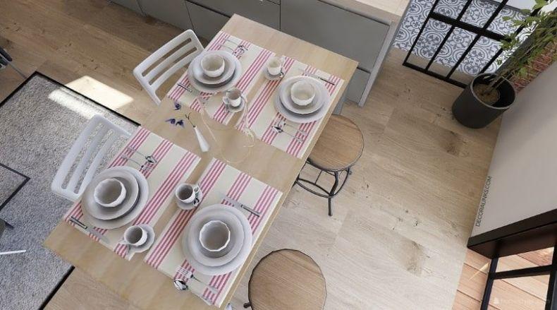 decoralinks | reforma de un apartamento en Barcelona, a mesa puesta