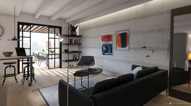 decoralinks - reforma de un apartamento en Barcelona, living