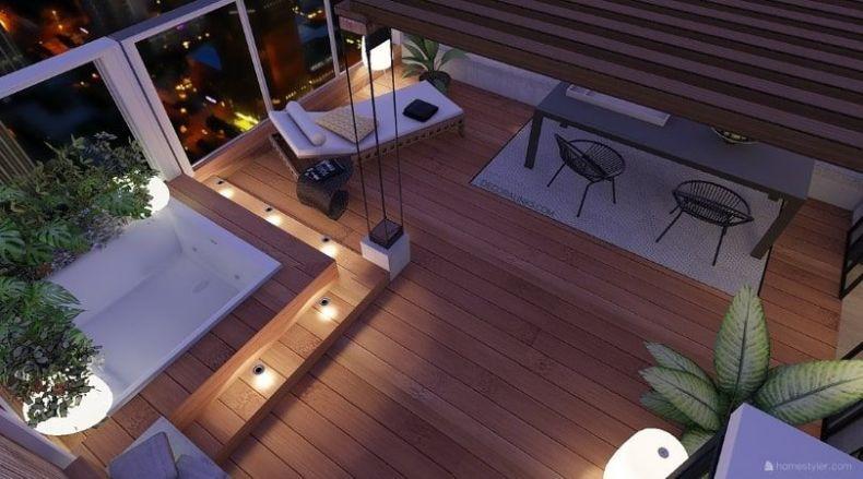 decoralinks | reforma de un apartamento en Barcelona, terraza