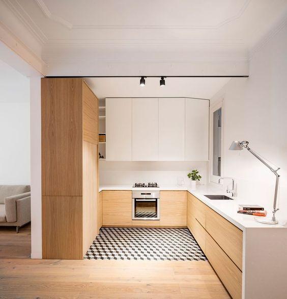 azulejos zonificando cocina