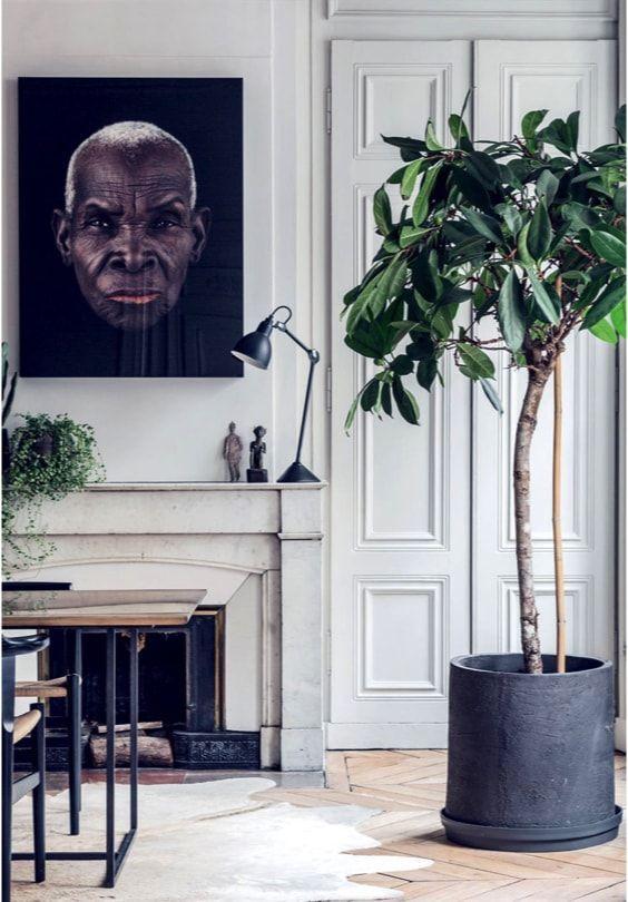 apartamento sofisticado - chimenea en la cocina