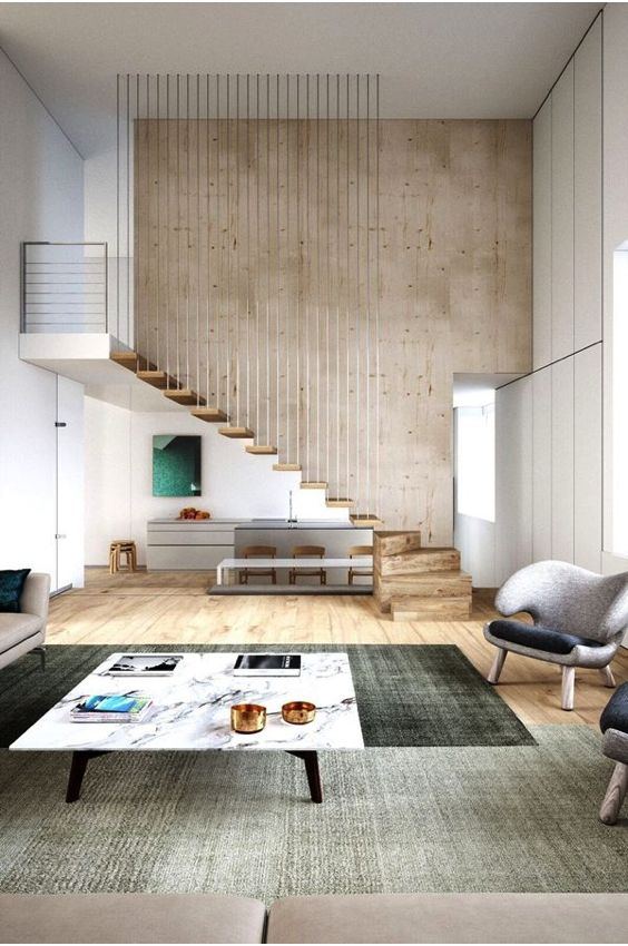escaleras Abaton con barandilla de suelo a techo