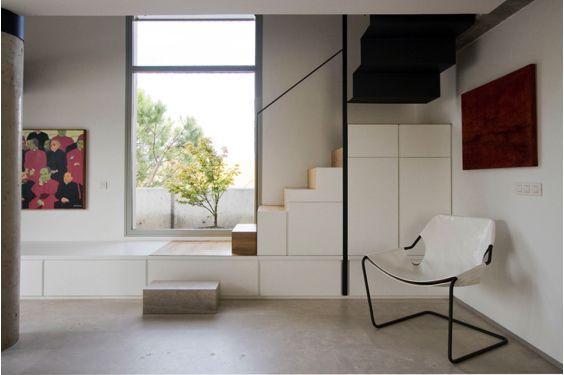 escaleras Abaton con armarios integrados