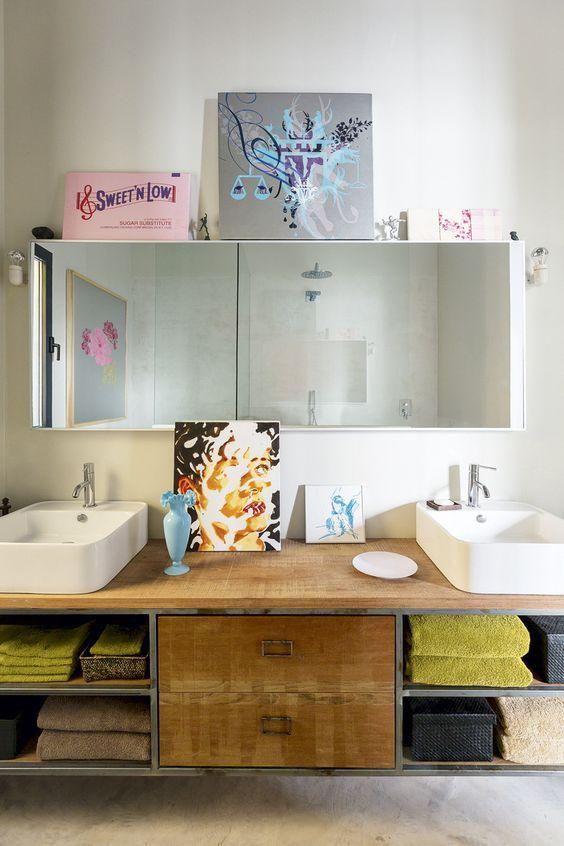 dobles lavabos en muebles de oficio