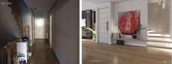decoralinks | reforma planta baja adosado en Madrid - detalle de las escaleras