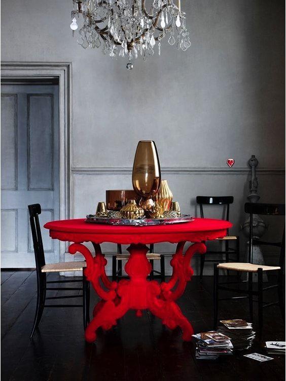 comedor singular - pinta la mesa de un tono fluor