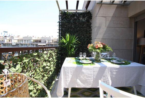 decoralinks| sistemas para ocultar terraza - hojas artificiales