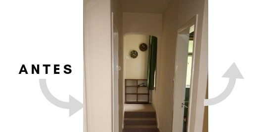 antes y despues de una casa irlandesa - pasillo