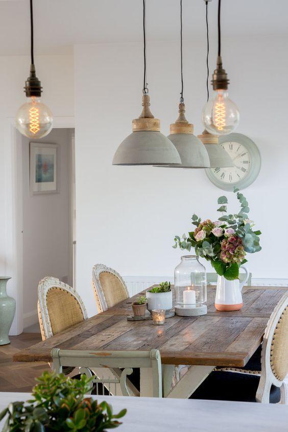 decoralinks | comedor estilo provenzal en casa de campo
