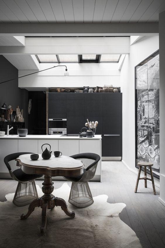 decoralinks | cocinas negras y blancas