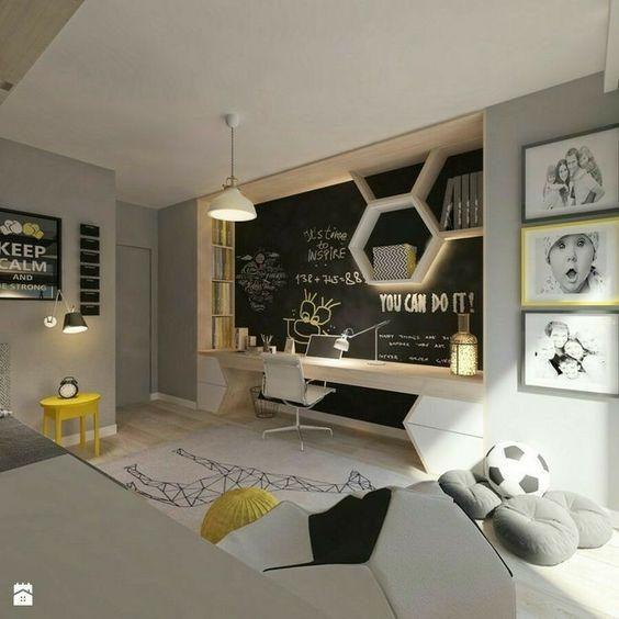 decoralinks | zonas de estudio de cara a la pared