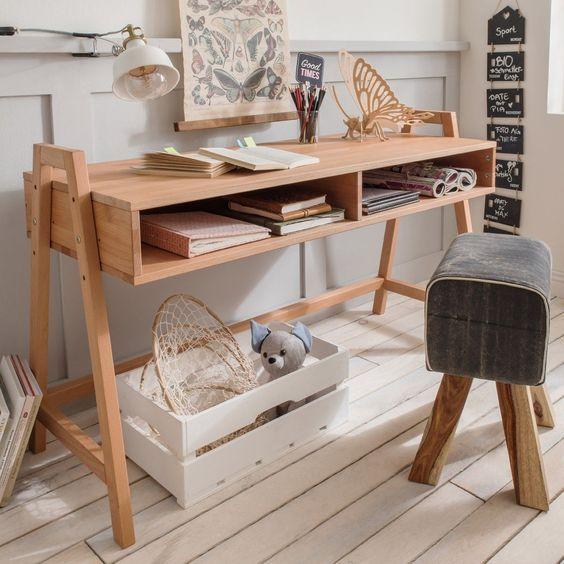 decoralinks | escritorio con espacio para guardar