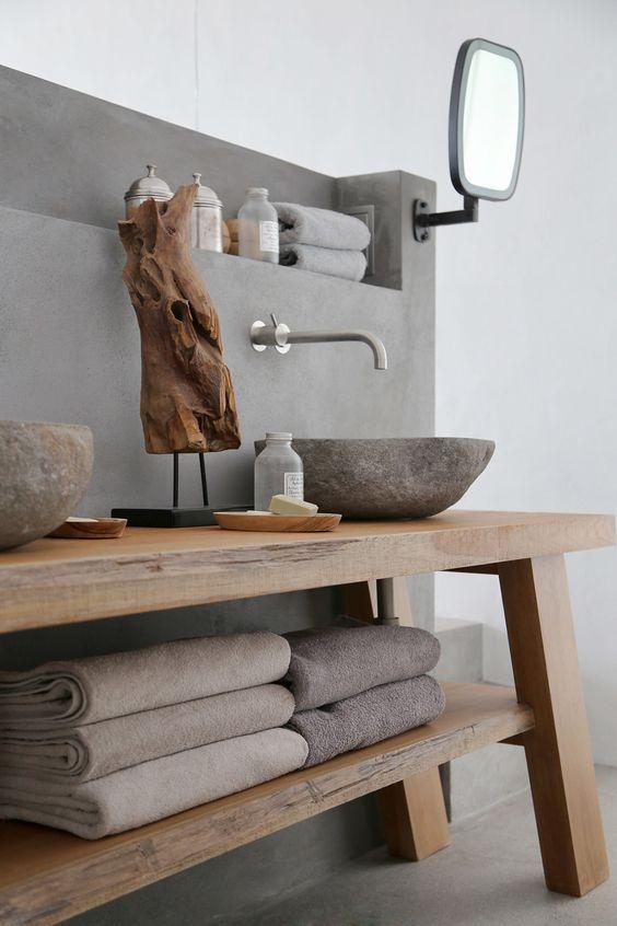 decoralinks | hornacina sobre murete de lavabo integrado en dormitorio