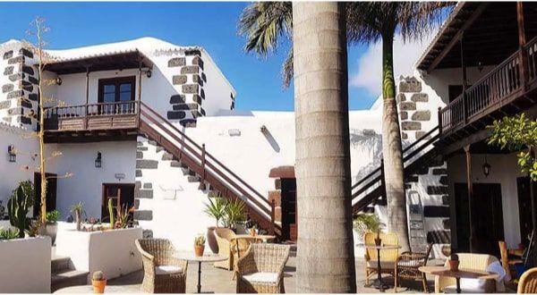 Hotel Palacio Ico en Lanzarote- patio interior
