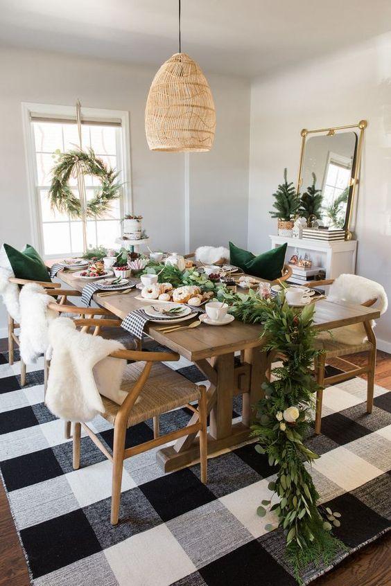 decoralinks | Navidad en verde - guirnalda verde para la mesa de navidad