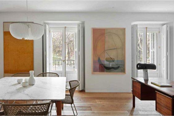 decoralinks | despacho y comedor en el mismo espacio
