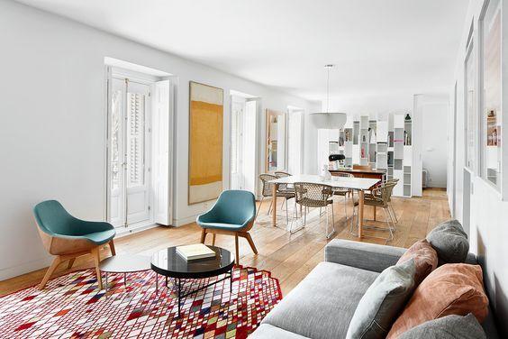 decoralinks | un gran espacio da cabida al salon, comedor y despacho