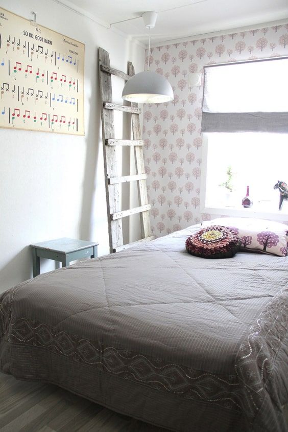 decoralinks | teenager romantic bedroom with wallpaper decorated with pink trees