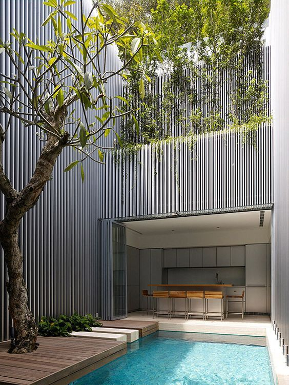 decoralinks   terraced house in singapore with swimming pool