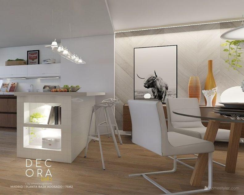 decoralinks   reforma de adosado en Madrid - cocina/comedor