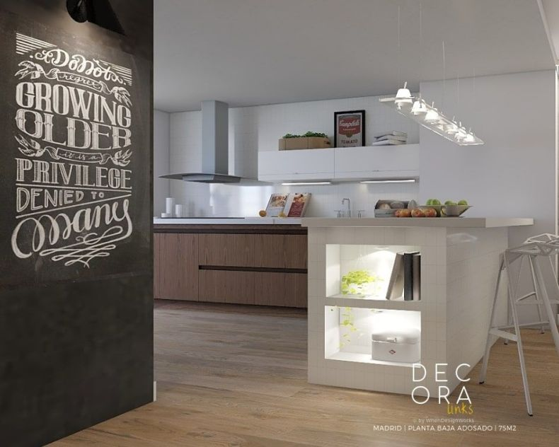 decoralinks   reforma de adosado en Madrid - cocina
