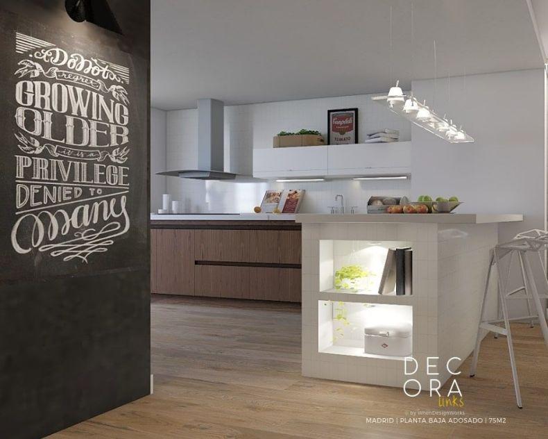 decoralinks | reforma de adosado en Madrid - cocina