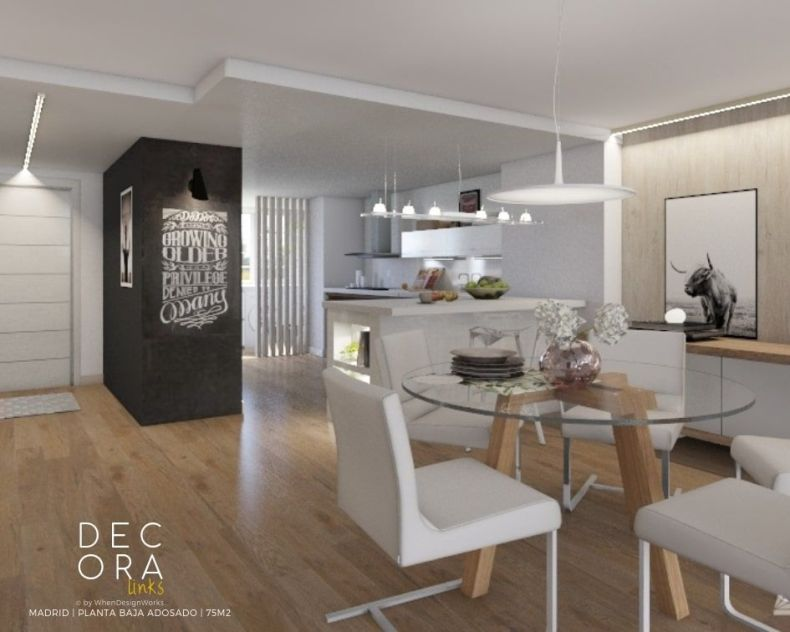 decoralinks | reforma de adosado en Madrid -comedor