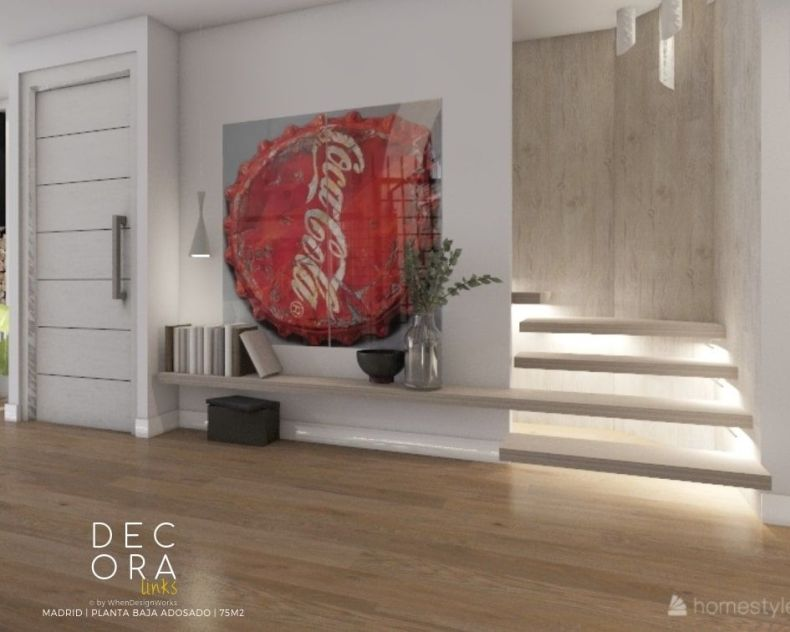 decoralinks | reforma de adosado en Madrid - escaleras