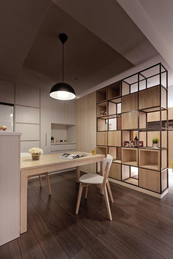 decoralinks | estanterias metalicas y de madera que separan ambientes