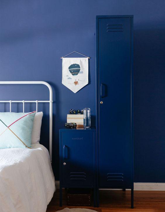 decoralinks   deep blue mustard lockers