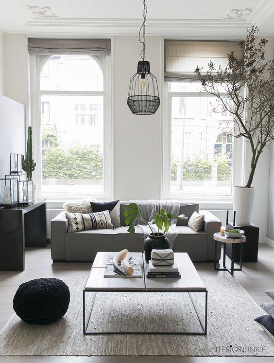 decoralinks | salon en blanco y negro