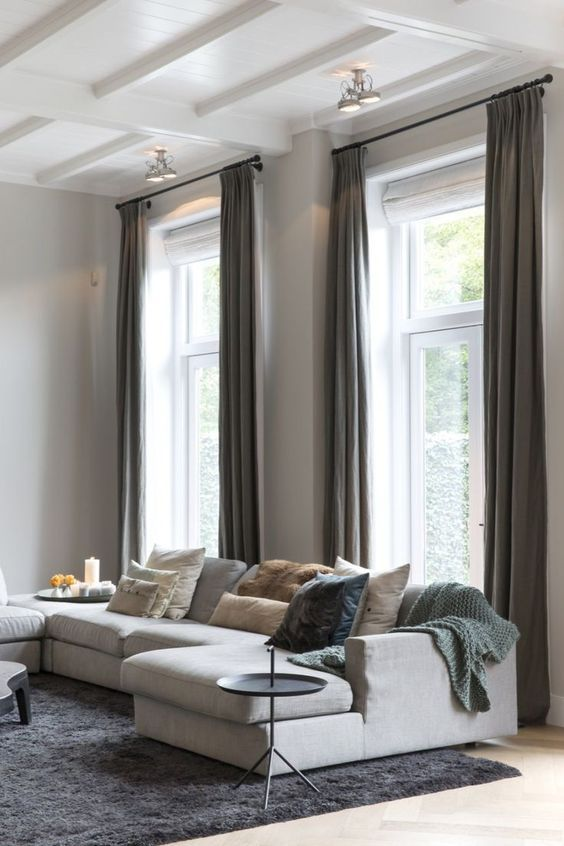 decoralinks | combinar cortinas y estores en el salon