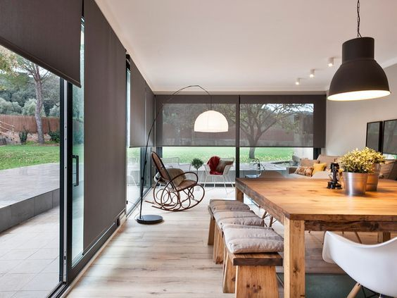 decoralinks | roller shades in a rustic house