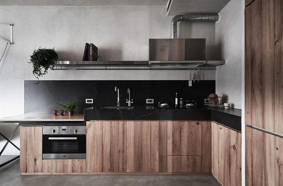 decoralinks | cocina con mesa escondida en muebles bajos