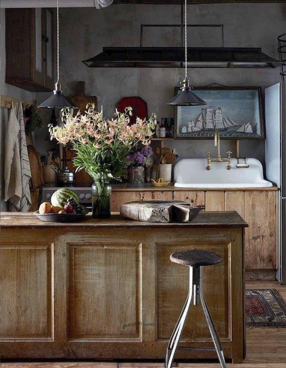 decoralinks| ramo de flores en cocina provenzal