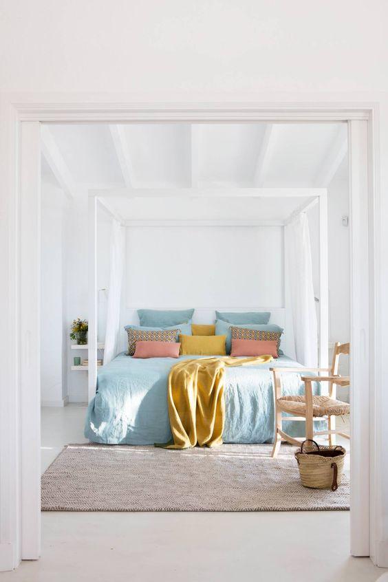 decoralinks| color vestir cama verano - tonos pastel