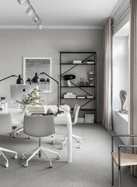decoralinks | espacio improvisado para teletrabajar - comedor de Lotta Agaton