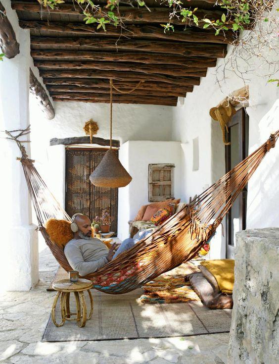 #decoralinks #alfombrasdeexterior #hamaca #porche #ibiza #casadepueblo